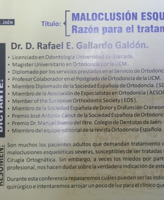Conferencia del Dr.Gallardo sobre Maloclusión Esquelética Severa